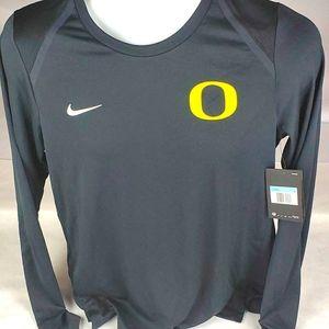 Nike Dri-Fit Womens Long Sleeve Oregon Ducks Shirt